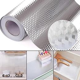 2019 decoraciones espejo círculo MeterMall 40x100cm del papel de aluminio auto adhesivo impermeable Estufa etiqueta de la pared de bricolaje Mobiliario de cocina a prueba de aceite pegatinas de pared