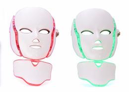 Микротоковые машины онлайн-PDT 7 Светотерапия для лица Косметическая машина со светодиодной подсветкой для шеи с микротоком для отбеливания кожи устройства dhl бесплатная пересылка