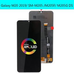schermo dell'acciaio a galassia Sconti LCD originale per display LCD Samsung Galaxy M20 M205 M205F SM-M205F / DS con l'Assemblea Touch Screen Digitizer trasporto libero