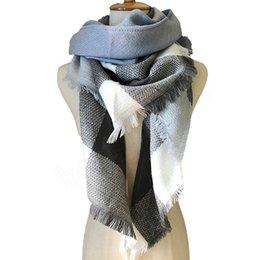 brand pashmina Скидка Роскошь-новый модный бренд дизайн треугольник шарфы плед мода теплая весна зима шарф для женщин шарфы пашмины ZZA849