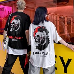panda camiseta de los hombres Rebajas Juego de la marca de verano 2019 Camiseta de manga corta con estampado de panda de hip hop Harajuku Algodón Streetwear Banda de hip-hop Camiseta de camiseta Hombres y mujeres