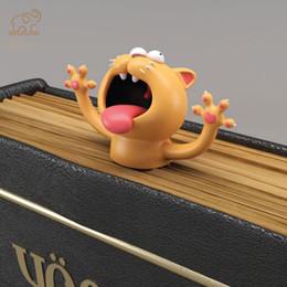2019 película de mariquita Conejo kawaii 3D Animal del gato aplastado ratón señales creativas Lobo marcas de libro para niños niña regalo de la escuela Oficina de Kawaii Papelería nuevo 666