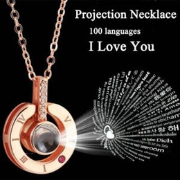 c188582a2417 cadenas de plata románticas Rebajas Forma de corazón redonda Memoria collar  Cadena 925 Plata 100 Idiomas