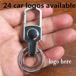 mazda remote covers Desconto 100pcs / lot misturado 22 logotipo do carro de couro marca de topo diamante Keyring anel cadeia de chave para chave de auto veículo fob cnyowo