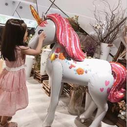 decorazioni cinesi porta nuova anno Sconti Unicorn Party Foil Balloons big size FAI DA TE Unicorno foil Balloon Birthday Party Supplies Unicorno Tema Party giocattolo per bambini Decor LJJK1685