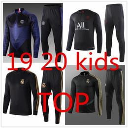 19 20 Futebol Define Tracksuits crianças agasalho definidos meninos caem crianças trajes psg player versão terceira maillot retro enfant garoto terceiro Real Madrid de Fornecedores de jaqueta de ozil