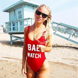 2019 bae orologio Womail Summer Style Donna Swimwear sexy Backless SwiBackless BAE WATCH Lettera stampata Costume da bagno Beachwear Costume da bagno monokini sconti bae orologio