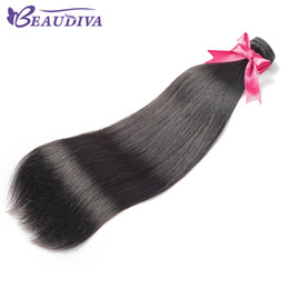 Onda chinesa on-line-Beaudiva virgem cabelo malaio europeu chinês peruano brasileiro brasileira onda do corpo e em linha reta 4 feixes 100% cabelo huaman