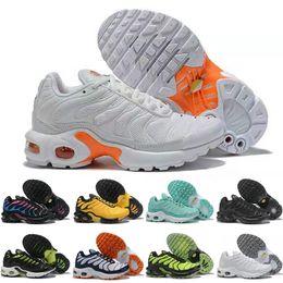 2019 sapatos grátis para crianças Nike Air TN Plus Crianças TN meninas meninos Sapatos Athletic Sapatas Runing Livre Designer de Tênis Branco Preto Sports Trainer sapatos de moda desconto sapatos grátis para crianças