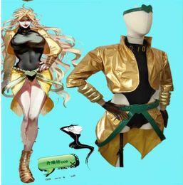 rin kagamine cosplay Desconto filme Bizarre Adventure JoJo Dio Brando Cosplay amarelo dourado