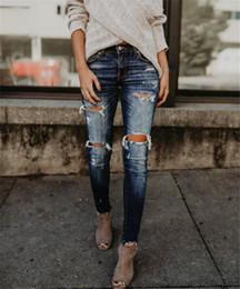 nuevos jeans modernos Rebajas Pantalones vaqueros 2018 otoño nuevo estilo moderno y de moda / mujeres Torn