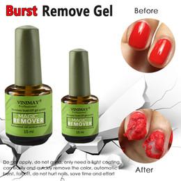 Uñas acrílicas online-VINIMAY Burst Magic Nail Remover 15ml Gel UV Esmalte de uñas Empapa de Nail Art Primer Acrílico Limpiador Desengrasante 50pcs