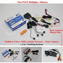 Bibi auto online-Liislee Per Mulipla / Marea - Parcheggio sensori + Rear View Backup Camera = 2 in 1 Visivo / BIBI allarme Parking System