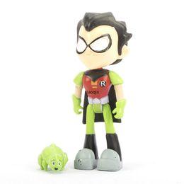 7Pcs Teen Titans GO Robin Cyborg Beast Boy Raven STARFIRE Action Figure Giocattolo UK