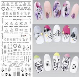 2019 adesivo de selo 1 Folha Geométrica Decalques De Água Nail Art Line Transferência Decalques Nail Art Slides De Água Selo desconto adesivo de selo