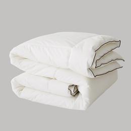 Cobertor de Queda de inverno Grosso Quente Confortável Superfine Quilts Qualidade 100% Algodão Capa de Água Lavável Casa Hotel Branco Edredões de Fornecedores de edredom rainha rosa