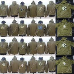 Горячий зеленый Салют для обслуживания пуловер толстовка медведи упаковщики техасцы вожди бараны Викинги святые гиганты орлы Steelers Пантеры 49ers краснокожие cheap panthers hoodie от Поставщики пантеры с капюшоном