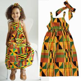 Kızlar afrika baskı elbiseler bebek kız yaz elbiseler 2019 bohemian maxi elbise çocuklar backless plaj elbise çocuk giyim jartiyer elbise nereden