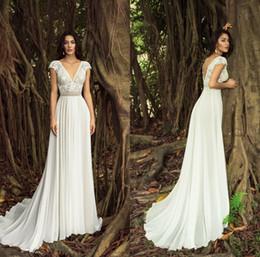 2d42e2725c6 2019 robe en mousseline de soie chic bohème Chic Nostalgie Une ligne robes  de mariée bohème