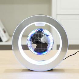Lampada di levitazione online-Mappa del mondo della novità LED rotonda galleggiante globo di levitazione magnetica Luce Antigravità magica del romanzo della lampada di compleanno a casa di notte della lampada dicembre