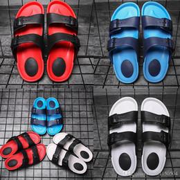 Vente chaude Original Marque Designer hommes D'été Sandales noir bleu rouge Anti-glissement pantoufles à séchage rapide Chaussures D'eau lumière plage tongs ? partir de fabricateur