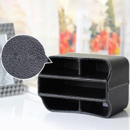 teléfonos de casa de lujo Rebajas Control remoto retro PU cuero caja de almacenamiento organizador de papelería oficina en casa soporte para teléfono maquillaje contenedor de lujo giratorio