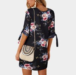 S-5XL Summer Deep O Neck Spaghetti Strap Bohemian Dress Donna Straight Pprint Backless Sexy Maxi Dress Impulso da