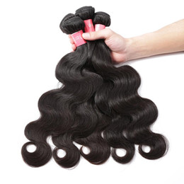 2020 vague naturelle des cheveux humains yaki Pérou Weave Bundles vague de corps humain Cheveux 3 Bundles Couleur naturelle Raw Virgin Hair promotion vague naturelle des cheveux humains yaki