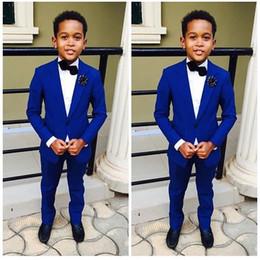 2019 costume bleu garçon pour le blazer de mariage + pantalon homme costume smoking smoking formel parti costume enfant smoking pour garçon ? partir de fabricateur