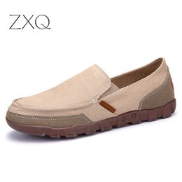Men s canvas loafers online-Men Casual Canvas Loafers Big Size 38-48 Slip On New 2020 Frühlings-Männer flache Schuhe für Männer Schuhe