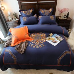 2019 colchas luz verde Pretty Navy Bedding Sets New Super Nice Duvet Cover Sets 4 5 6 7 PCS Fashion Cotton Bed Cover Free Shipping