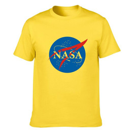 clothes space Coupons - 2019 New Fashion Designer Shirt Tops Quality Nasa Unisex T-shirt Summer Casual Style Letter Printe Cotton Shirts Space Tees Clothing