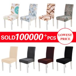 Astounding Spandex Chair Cover Stretch Elastic Dining Seat Cover For Banquet Wedding Restaurant Hotel Anti Dirty Removable Housse De Chaise Short Links Chair Design For Home Short Linksinfo