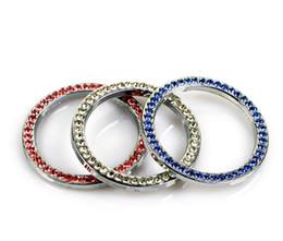 Anillo de un solo botón del coche Botón de inicio del anillo de diamante Conjunto del anillo de inicio Anillo decorativo de encendido de cristal desde fabricantes