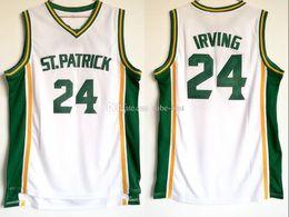 2019 camisetas de equipo de baloncesto envío gratis Envío gratuito 24 Kyrie Irving High School St Patrick jerseys de los hombres para los aficionados deportivos transpirable Irving baloncesto camisetas del equipo Color Blanco Venta rebajas camisetas de equipo de baloncesto envío gratis