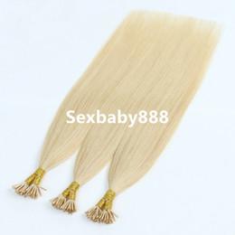 итальянский человеческий волос 22 дюйма Скидка 100% Индийская Человеческая Блондинка 14-24 Дюйма 1 г Пряди Pre Bonded Remy Прямой Итальянский кератин I tip Наращивание волос капсула
