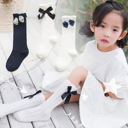 Canada Princesse chaussettes filles matsukou empiler chaussettes chaussettes minces enfants chaussettes doux papillon noeud coton bébé bas en gros Offre