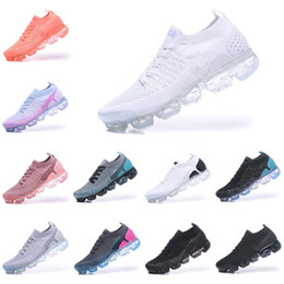 2019 chaussures 2s NIKE VaporMax Flyknit Vapor MAX chaude pas cher Hommes Femmes Sports Chaussures de plein air 2 Vapors Fly 2.0 Tricot 2s Designer de luxe officiel running Sneakers Respirant Durable promotion chaussures 2s