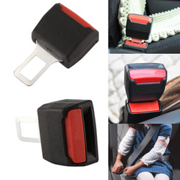 Boucle de ceinture universelle en Ligne-Hot 2Pcs Universal Safety Car ceinture de sécurité réglable clip Extender Extension Ceintures de sécurité noir et Rembourrage