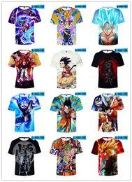 T-Shirt Dragon Ball T Shirt 3d Anime Uomo donna bambini bambini T Shirt Divertenti T-Shirt Hip Hop Abbigliamento Uomo giapponese Abbigliamento Vintage da