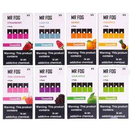 Barras de maçã on-line-2019 MR FOG Pods 1,0ml nenhum vazamento cartuchos de uva de Apple Blueberry Morango 13 Flavor Compatível vazio Puff Bar Pod Para Kit de bateria