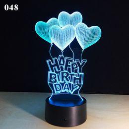 2019 feux de forme de dessin animé Dessin animé amour coeur forme lampe de table 3D stéréo USB lampe de bureau nouveauté tactile 7 couleurs changeantes Night Light pour la décoration de la Saint-Valentin promotion feux de forme de dessin animé