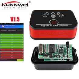 mini interfaz elm327 Rebajas Profesional MINI ELM327 WIFI Scanner V1.5 Trabajo IOS Torque Interfaz inalámbrica Auto CAN-BUS ELM 327 Compatible con herramienta de diagnóstico OBD2