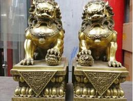 Antiquités de porcelaine en Ligne-Bronze antique Nombre de laiton pur cuivre Numéro china cobre par Foo Perros Leones usine de bronze de décoration en cuivre