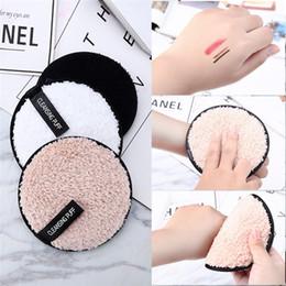 maquillaje saludable Rebajas Desmaquillador Toalla piel sana paño de microfibra pad removedor de toallas 3 colores Limpiador facial maquillaje Lazy limpieza de polvo del soplo 10pcs