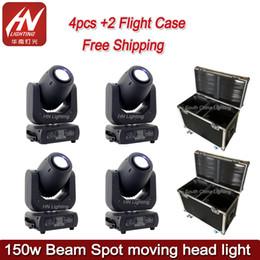 4 pcs com o caso Disco night club luz do estágio Levou gobo Moving Head 150 w conduziu feixe de luz em movimento da cabeça de