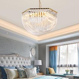 Designer-club-beleuchtung online-2019 postmoderne Art und Weise Gold, Glas, Kristall-Bend-Designer Club Hotel Light Luxury Boutique Villa Metall Kronleuchter