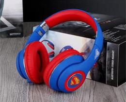 Argentina Nuevo DC Justice League superman rojo-azul con auriculares para juegos HIFI sobre oreja juego profesional para auriculares con micrófono para PC Suministro