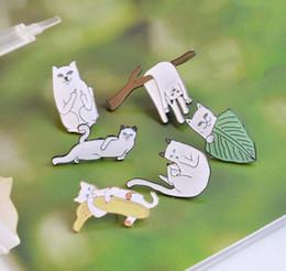 pin divertente Sconti 2019 New fashion Cartoon Funny Cats Con Banana On Branch Design Spilla Pin Badge Pinback Button Corpetto Uomo Donna Bambino Gioielli