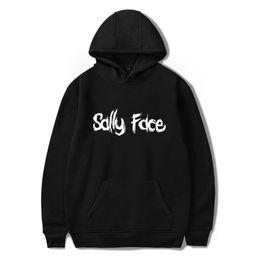 2019 hoodies da impressão da cara Sally Face Hoodies 3D Impressão Moletom Mulheres Mens Casual Unisex Outono Casacos macios Jaquetas Moda Casual Tops desconto hoodies da impressão da cara